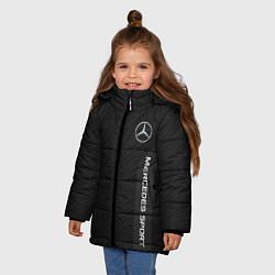 Куртка зимняя для девочки Mercedes AMG: Sport Line цвета 3D-черный — фото 2