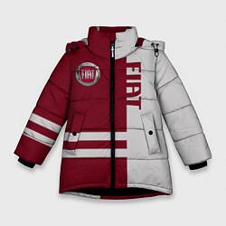 Детская зимняя куртка для девочки с принтом Fiat, цвет: 3D-черный, артикул: 10147167306065 — фото 1