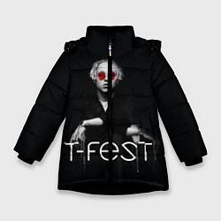 Куртка зимняя для девочки T-Fest: Black Style цвета 3D-черный — фото 1