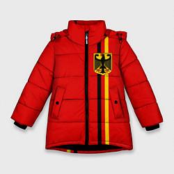 Куртка зимняя для девочки Германия цвета 3D-черный — фото 1