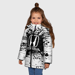 Куртка зимняя для девочки Honda: Black Spray цвета 3D-черный — фото 2