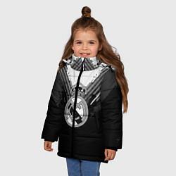 Куртка зимняя для девочки FC Real Madrid: Black Style цвета 3D-черный — фото 2
