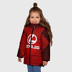 Куртка зимняя для девочки Lexus: Red Light цвета 3D-черный — фото 2