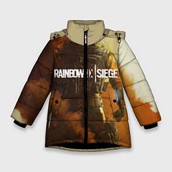 Куртка зимняя для девочки Rainbow Six Siege: Outbreak цвета 3D-черный — фото 1
