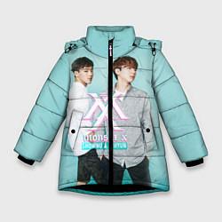 Куртка зимняя для девочки Shownu & Kihyun цвета 3D-черный — фото 1