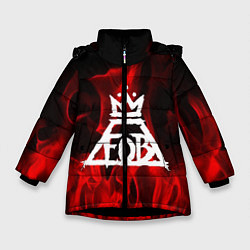 Куртка зимняя для девочки Fall Out Boy: Red Flame цвета 3D-черный — фото 1