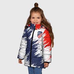 Куртка зимняя для девочки FC Atletico Madrid цвета 3D-черный — фото 2