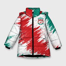 Куртка зимняя для девочки FC Liverpool цвета 3D-черный — фото 1