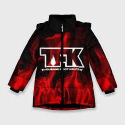 Куртка зимняя для девочки Thousand Foot Krutch: Red Flame цвета 3D-черный — фото 1