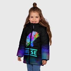 Куртка зимняя для девочки Muse: Neon Flower - фото 2