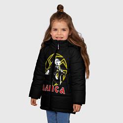 Куртка зимняя для девочки АлисА: Коловрат цвета 3D-черный — фото 2