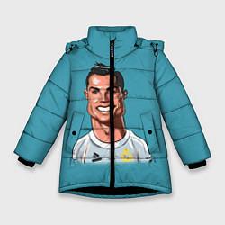 Куртка зимняя для девочки КариРоналдо цвета 3D-черный — фото 1