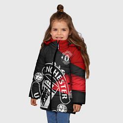 Куртка зимняя для девочки FC Man United: Exclusive цвета 3D-черный — фото 2