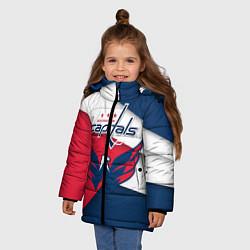 Куртка зимняя для девочки Washington Capitals цвета 3D-черный — фото 2