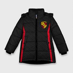 Куртка зимняя для девочки Porsche: Sport Edition цвета 3D-черный — фото 1
