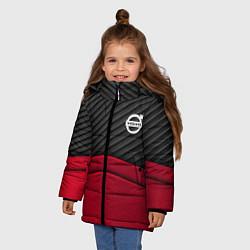 Куртка зимняя для девочки Volvo: Red Carbon цвета 3D-черный — фото 2