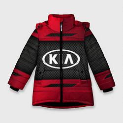 Куртка зимняя для девочки KIA Collection цвета 3D-черный — фото 1