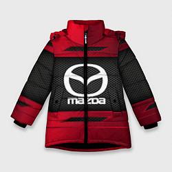 Детская зимняя куртка для девочки с принтом Mazda Sport, цвет: 3D-черный, артикул: 10152931906065 — фото 1