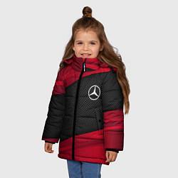 Куртка зимняя для девочки Mercedes Benz: Red Sport цвета 3D-черный — фото 2