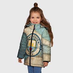 Куртка зимняя для девочки FC Man City: Old Style цвета 3D-черный — фото 2