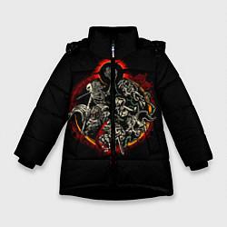 Куртка зимняя для девочки Berserk Devils цвета 3D-черный — фото 1