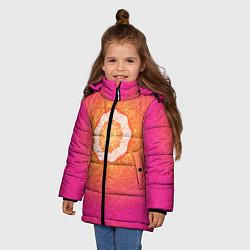 Куртка зимняя для девочки Солнечная мандала цвета 3D-черный — фото 2