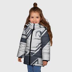 Куртка зимняя для девочки Team Liquid: Grey E-Sport цвета 3D-черный — фото 2