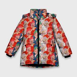 Куртка зимняя для девочки Истинные фанаты России цвета 3D-черный — фото 1