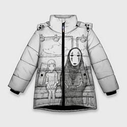 Куртка зимняя для девочки Унесенные призраками цвета 3D-черный — фото 1