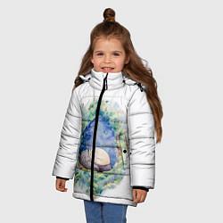 Куртка зимняя для девочки Сказочный Тоторо цвета 3D-черный — фото 2