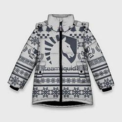 Куртка зимняя для девочки Team Liquid: Grey Winter цвета 3D-черный — фото 1