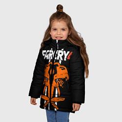 Куртка зимняя для девочки Far Cry 4: Orange Elephant цвета 3D-черный — фото 2