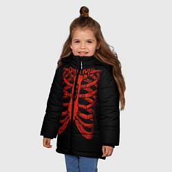 Куртка зимняя для девочки Slipknot Skeleton цвета 3D-черный — фото 2