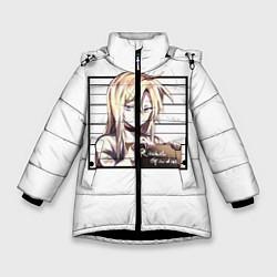 Куртка зимняя для девочки Rachel Gardner цвета 3D-черный — фото 1