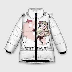 Куртка зимняя для девочки Don't Starve: Wendy цвета 3D-черный — фото 1