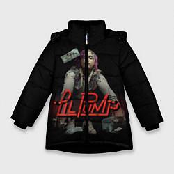 Куртка зимняя для девочки Lil Pump цвета 3D-черный — фото 1