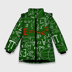 Куртка зимняя для девочки E=mc2: Green Style цвета 3D-черный — фото 1