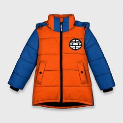 Куртка зимняя для девочки DBZ: Goku Emblem цвета 3D-черный — фото 1