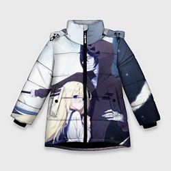 Куртка зимняя для девочки Ангел кровопролития цвета 3D-черный — фото 1