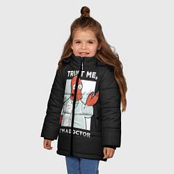 Куртка зимняя для девочки Zoidberg: Trust Me цвета 3D-черный — фото 2