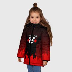 Куртка зимняя для девочки Kumamon: Hell Flame цвета 3D-черный — фото 2