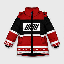 Куртка зимняя для девочки IKON Stripes цвета 3D-черный — фото 1