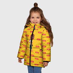 Куртка зимняя для девочки Lil Pump: Esketit цвета 3D-черный — фото 2