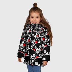 Детская зимняя куртка для девочки с принтом Kumamons, цвет: 3D-черный, артикул: 10162796906065 — фото 2