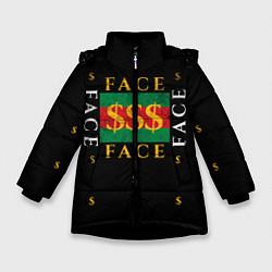 Куртка зимняя для девочки FACE GG Style цвета 3D-черный — фото 1
