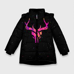 Куртка зимняя для девочки Neon Deer цвета 3D-черный — фото 1