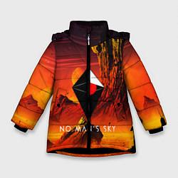 Куртка зимняя для девочки No Man's Sky: Red Dust цвета 3D-черный — фото 1