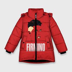 Куртка зимняя для девочки Firmino цвета 3D-черный — фото 1