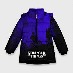 Куртка зимняя для девочки Stranger Things: Moon Biker цвета 3D-черный — фото 1