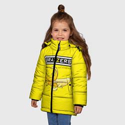 Куртка зимняя для девочки Brazzers: Yellow Banana цвета 3D-черный — фото 2